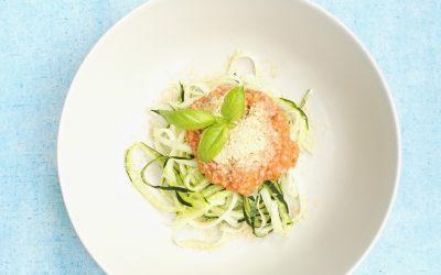 Super snelle & gezonde courgette pasta